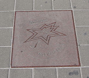 Alex Trebek - Trebek's star on the Canadian Walk of Fame