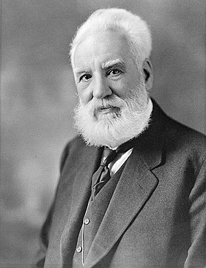English: Portrait of Alexander Graham Bell Fra...