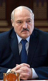 Alexander Lukashenko Belarusian politician, president of Belarus