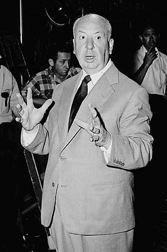 Alfred Hitchcock - Hitchcock on the set of Alfred Hitchcock Presents in 1955