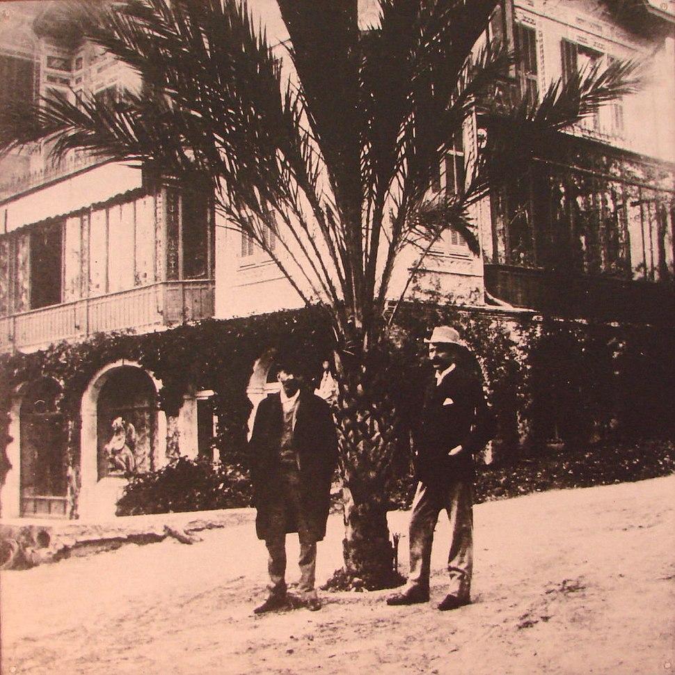 Alfred Nobel with Robert Strehlenert at Sanremo 1896