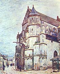 L'Église de Moret après la pluie