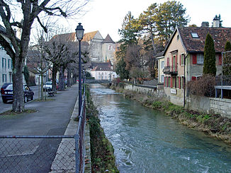 Die Allaine in Porrentruy