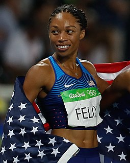 Allyson Felix track and field sprint athlete
