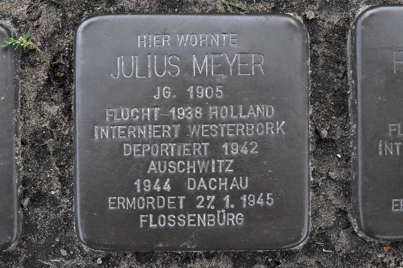 Stolperstein für Julius Meyer