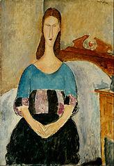 Portrait of Jeanne Hebuterne, Seated, 1918