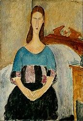 Amedeo Modigliani: Portrait of Jeanne Hebuterne, Seated, 1918