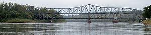 Amelia Earhart Memorial Bridge - The Amelia Earhart Bridge (the taller of the two)