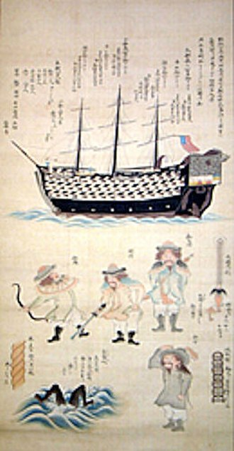 James Biddle - Ship of the Biddle fleet in Tokyo Bay in 1846.