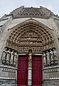 Amiens - Rue Cormont - ICE Photocompilation Viewing NNE & Up on the South Transept Façade of la Cathédrale Notre-Dame d'Amiens 1220-88.jpg