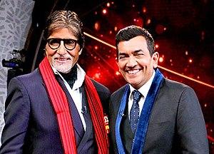 Sanjeev Kapoor - Sanjeev Kapoor (right) with Amitabh Bachchan