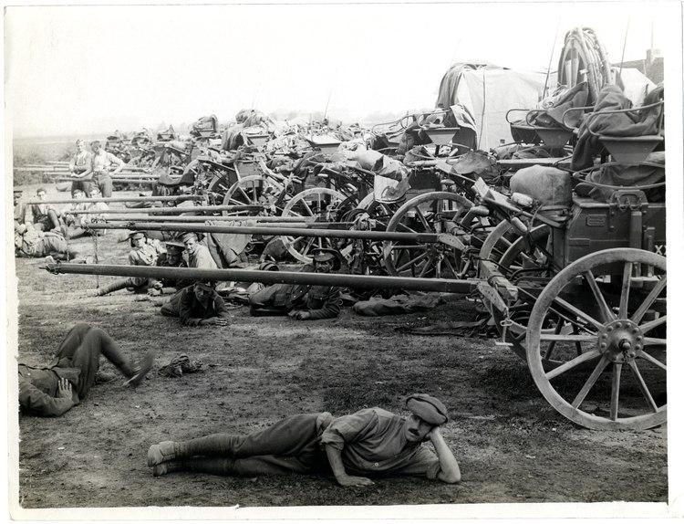 Ammunition column carts Estaires, France (Photo 24-332)