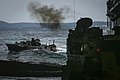 Amphibious assault vehicles embark USS Ashland. (38113259322).jpg