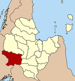 District location in Surat Thani Province