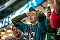 An Eagles fan watches the final seconds of Super Bowl LII, Minneapolis MN (39408024864).jpg