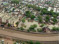 An aerial view taken from the IAF relief Helicopter of the flood-affected areas in Gujarat on July 3, 2005 (10).jpg