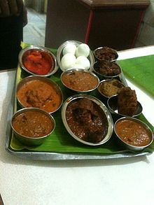Chettinad cuisine wikipedia a non vegetarian dish sample tray in chettinad hotel forumfinder Gallery