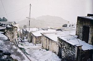 Anatoli, Lasithi - Anatoli during a harsh winter
