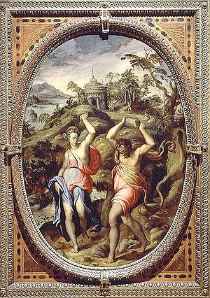 Andrea di Mariotto del Minga - Decaulione and Pirra