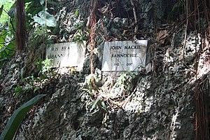 Iris Bannochie - Headstones of Iris and John Bannochie in Andromeda Gardens