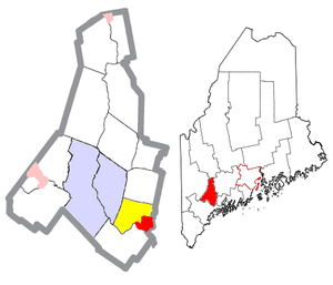 Lisbon, Maine - Image: Androscoggin County Maine Incorporated Areas Lisbon and Falls Highlighted