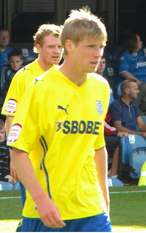 Andy Keogh - Andy Keogh playing for Cardiff City in 2010