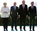 Angela Merkel, Vladimir Putin, Recep Tayyip Erdoğan and Emmanuel Macron in Istanbul (2018).jpg