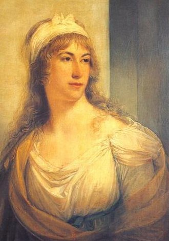 Lady Caroline Lamb - Lady Caroline's mother, Henrietta, Countess of Bessborough, by Angelica Kauffman in 1793