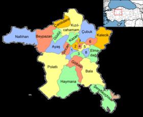 carte turquie détaillée