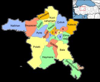 Yenimahalle, Ankara - Image: Ankara districts