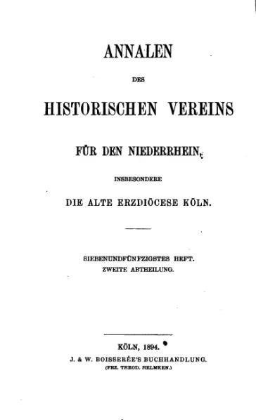 File:Annalen des Historischen Vereins für den Niederrhein 57 (1894).djvu