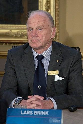Lars Brink - Image: Announcement Nobelprize physics 2011 DSC 1923