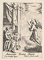 Annunciation, with angel approaching the seated Mary from the left, and the dove of the Holy Spirit above MET DP834092.jpg
