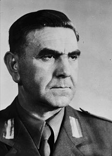 Ante Pavelić Croatian fascist general and military dictator