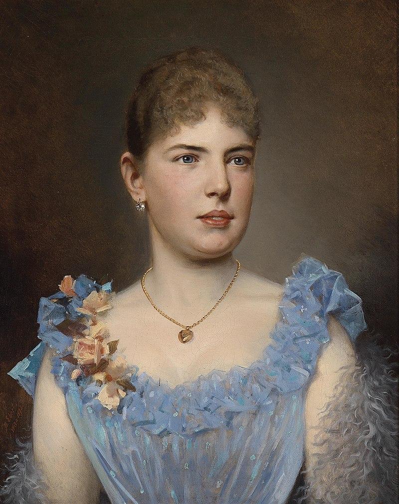 Антон Эберт Портрат Эйнер Дам в Blauem Kleid 1893.jpg