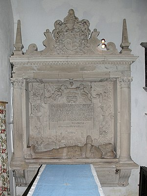 Appleton, Oxfordshire - Monument erected in 1593 in memory of Sir John Fettiplace (died 1580)