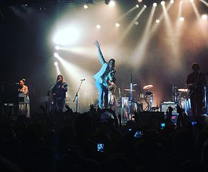 Arcade Fire - Arcade Fire during their first full-band show in two years in Barcelona