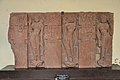 Architectural Piece Representing Three Standing Ladies in Different Postures - Mediaeval Period - Mahaban - ACCN 73-28 - Government Museum - Mathura 2013-02-23 4995.JPG