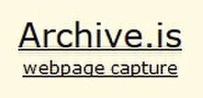 archive.today Online web archive