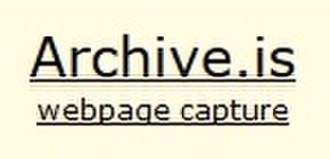 Archive.today - Image: Archive.is