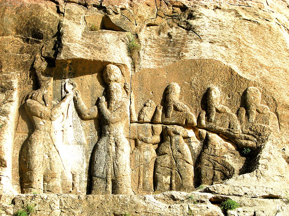 Ardashir i's relief at Firuzabad, Fars, Iran