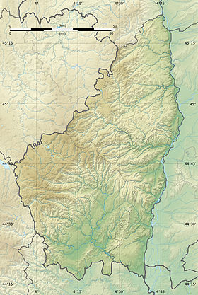voir sur la carte de l'Ardèche