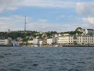 Arendal - Arendal viewed from the harbour