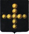 Armes des barons de Meester (de Betzenbroeck, de Heyndonck et de Ravenstein).png