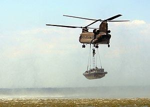 Boeing CH-47 Chinook - A CH-47 in a training exercise with US Navy Special Warfare, in July 2008