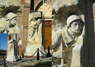 Arry, Somme - The Arry monument aux morts.
