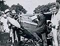 Arthur Butler refuelling his Comper Swift aeroplane G-ABRE, 1931.jpg