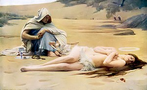 Hypatia (novel) - Pelagia and Philammon by Arthur Hacker