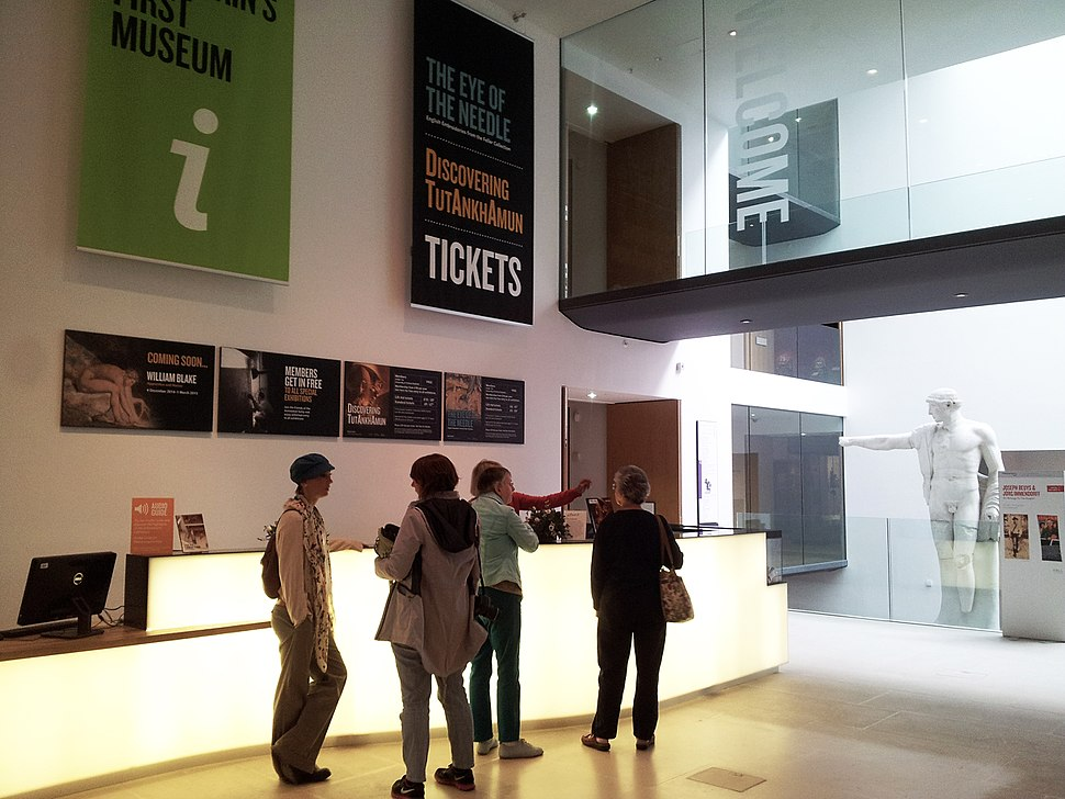 Ashmolean Museum Oxford Information Desk 2014