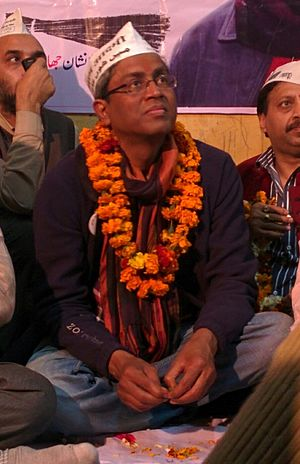 Ashutosh (politician) - Image: Ashutosh during a volunteer meet in Chandni Chowk Lok Sabha Constituency 2014 03 16 01 33
